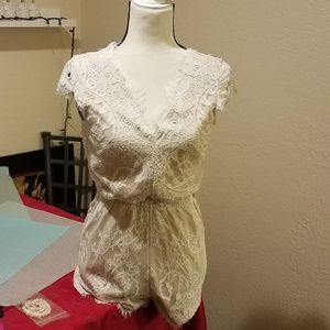 SABO Skirt Lace Romper
